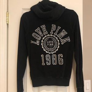 VS PINK black bling zip up